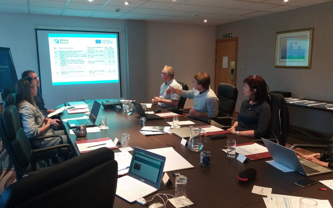 """Active Businesses"" 4th project meeting in Plymouth. Promoting physical activity in the business and industry sector"
